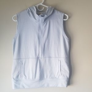 LOLE Striped Zip Vest with Hood